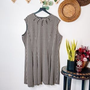 Melonie T Jacquard Houndstooth Fit & Flare Dress
